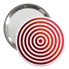 Concentric Red Rings Background 3  Handbag Mirrors