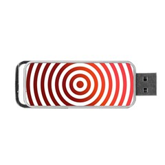 Concentric Red Rings Background Portable Usb Flash (one Side)