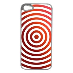 Concentric Red Rings Background Apple Iphone 5 Case (silver)