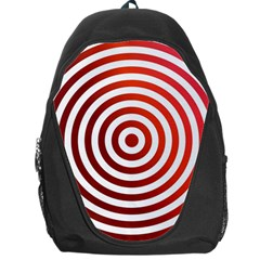 Concentric Red Rings Background Backpack Bag