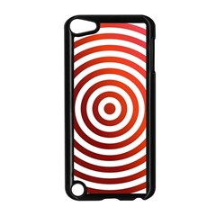 Concentric Red Rings Background Apple Ipod Touch 5 Case (black)