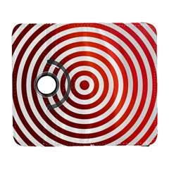 Concentric Red Rings Background Galaxy S3 (flip/folio)