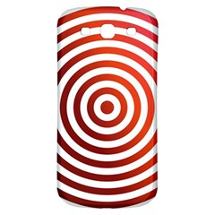 Concentric Red Rings Background Samsung Galaxy S3 S Iii Classic Hardshell Back Case