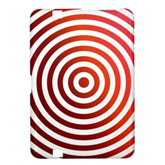 Concentric Red Rings Background Kindle Fire Hd 8 9