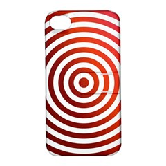 Concentric Red Rings Background Apple Iphone 4/4s Hardshell Case With Stand