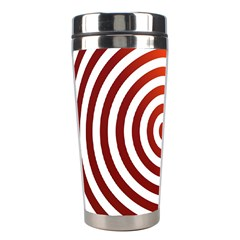 Concentric Red Rings Background Stainless Steel Travel Tumblers