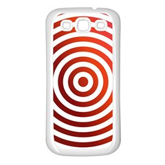 Concentric Red Rings Background Samsung Galaxy S3 Back Case (white)