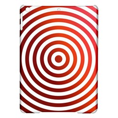 Concentric Red Rings Background Ipad Air Hardshell Cases