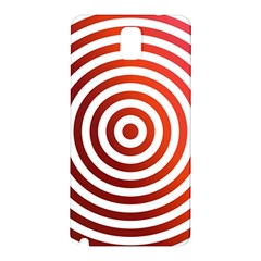 Concentric Red Rings Background Samsung Galaxy Note 3 N9005 Hardshell Back Case