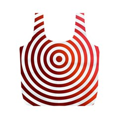 Concentric Red Rings Background Full Print Recycle Bags (m)