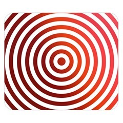 Concentric Red Rings Background Double Sided Flano Blanket (small)