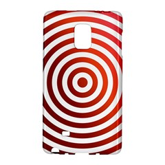 Concentric Red Rings Background Galaxy Note Edge