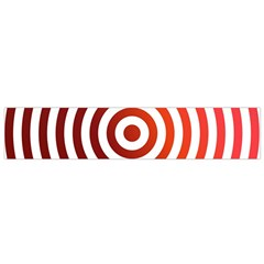 Concentric Red Rings Background Flano Scarf (small)