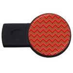 Background Retro Red Zigzag USB Flash Drive Round (2 GB) Front
