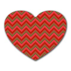 Background Retro Red Zigzag Heart Mousepads