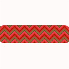 Background Retro Red Zigzag Large Bar Mats