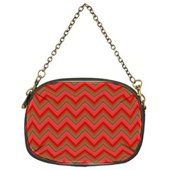 Background Retro Red Zigzag Chain Purses (one Side)