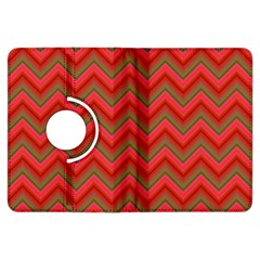 Background Retro Red Zigzag Kindle Fire Hdx Flip 360 Case