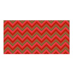 Background Retro Red Zigzag Satin Shawl