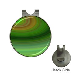 Green Background Elliptical Hat Clips With Golf Markers