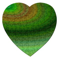 Green Background Elliptical Jigsaw Puzzle (heart)