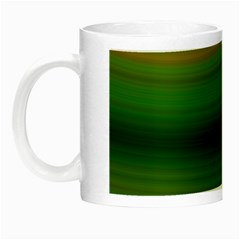 Green Background Elliptical Night Luminous Mugs