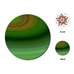 Green Background Elliptical Playing Cards (round)