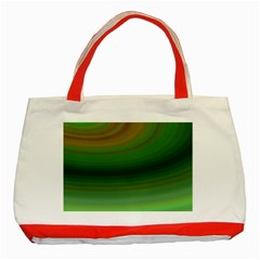Green Background Elliptical Classic Tote Bag (red)