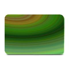 Green Background Elliptical Plate Mats