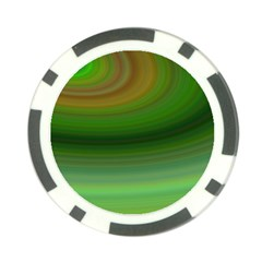 Green Background Elliptical Poker Chip Card Guard