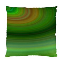 Green Background Elliptical Standard Cushion Case (two Sides)