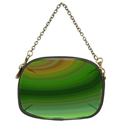 Green Background Elliptical Chain Purses (two Sides)