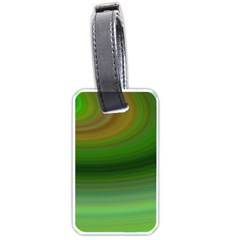 Green Background Elliptical Luggage Tags (two Sides)