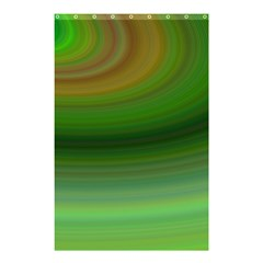Green Background Elliptical Shower Curtain 48  X 72  (small)