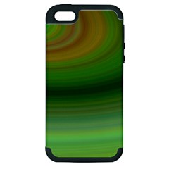 Green Background Elliptical Apple Iphone 5 Hardshell Case (pc+silicone)