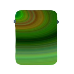Green Background Elliptical Apple Ipad 2/3/4 Protective Soft Cases