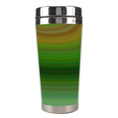 Green Background Elliptical Stainless Steel Travel Tumblers