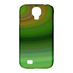 Green Background Elliptical Samsung Galaxy S4 Classic Hardshell Case (pc+silicone)