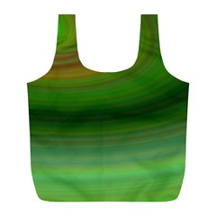 Green Background Elliptical Full Print Recycle Bags (l)