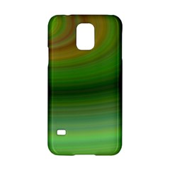 Green Background Elliptical Samsung Galaxy S5 Hardshell Case