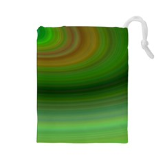 Green Background Elliptical Drawstring Pouches (large)