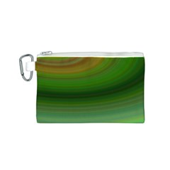 Green Background Elliptical Canvas Cosmetic Bag (s)