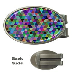 Triangle Tile Mosaic Pattern Money Clips (oval)