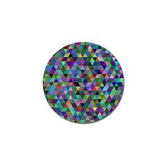 Triangle Tile Mosaic Pattern Golf Ball Marker (10 Pack)