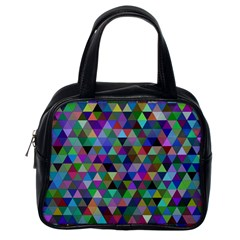 Triangle Tile Mosaic Pattern Classic Handbags (one Side)