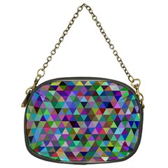 Triangle Tile Mosaic Pattern Chain Purses (one Side)