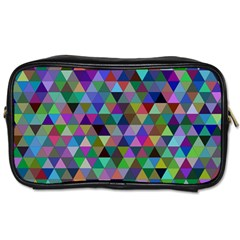 Triangle Tile Mosaic Pattern Toiletries Bags