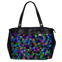 Triangle Tile Mosaic Pattern Office Handbags