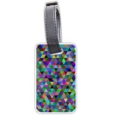 Triangle Tile Mosaic Pattern Luggage Tags (one Side)