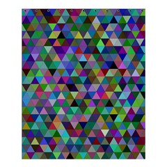 Triangle Tile Mosaic Pattern Shower Curtain 60  X 72  (medium)